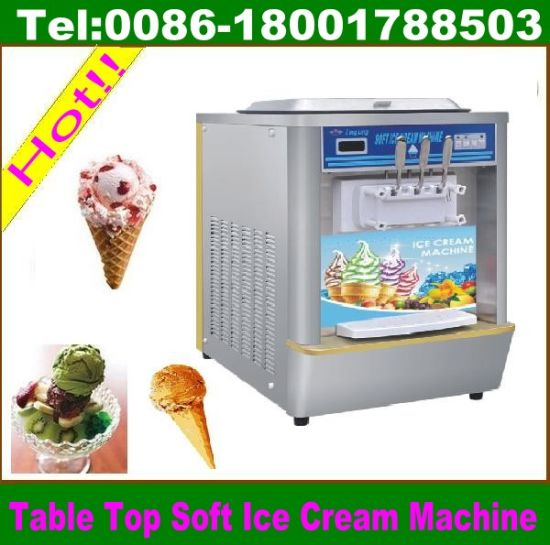 Frozen Yogurt Machine, Ice Cream Making Machine 3 Flavors