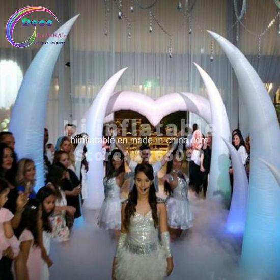Wedding Decoration LED Lighting Inflatable Tube Tusk Arch Inflatable