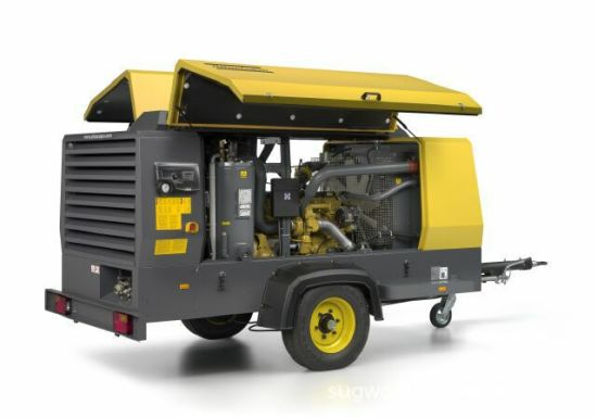 Atlas Copco Mining Diesel Portable Air Compressor with Jack Hammer