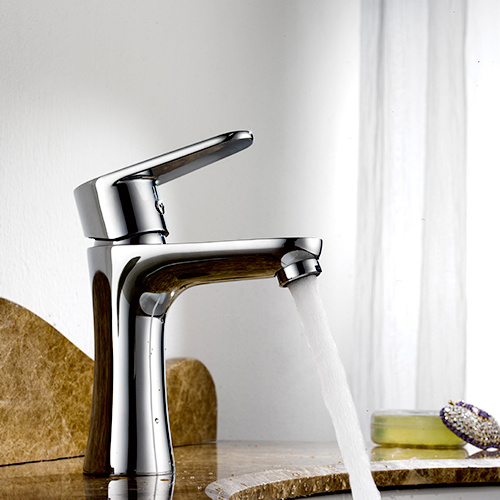 Chrom Stainless Steel Single Sink Kitchen Hardware Faucet Water Mixer