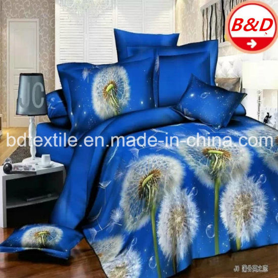 China 3D Printed Brushed Wide Width Polyester Microfiber