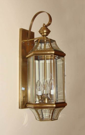 Pw-19352 Copper Wall Lamp with Glass Decorative pictures & photos