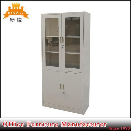China Glass Door Filing Cabinet Metal Book Cabinet With 4 Door