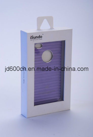 OEM Phone Case Paper Box with Clear Plastic Window