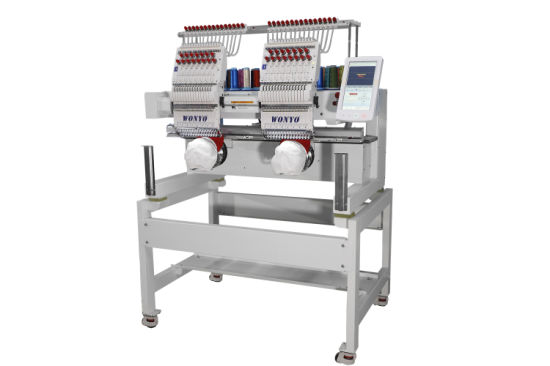 Two Head Cheap 3d Hat Flat T Shirt Embroidery Machine Price For Sale