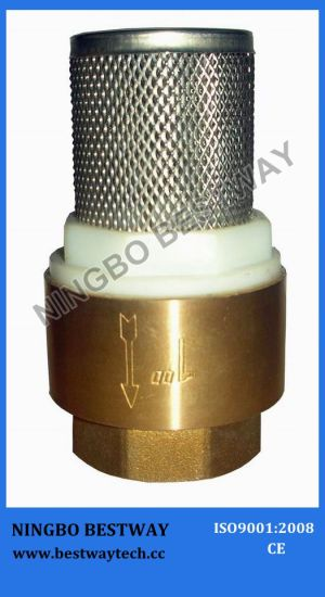 Brass Foot Valve with S/S Filter (BW-C09) pictures & photos