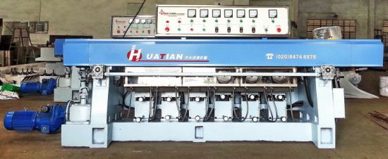 Manual 6 Engines Straight Line Glass Round Pencil Grinding Machine