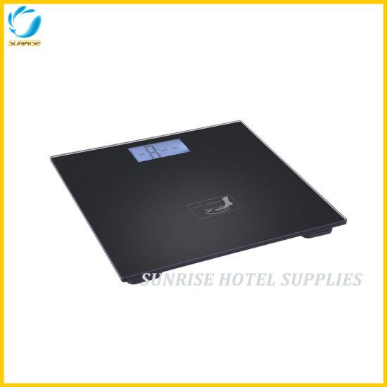 Hotel Bathroom Black LCD Display Digital Weighing Scale