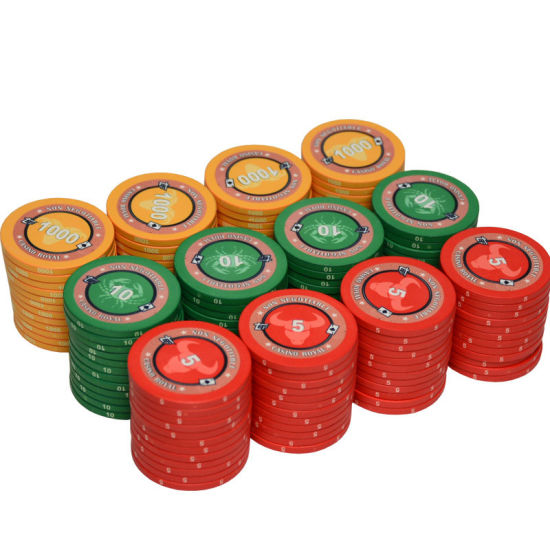Customized Double Sided Laser Stickers Poker Chips Pieces China China Casino Supplies And Chips Price