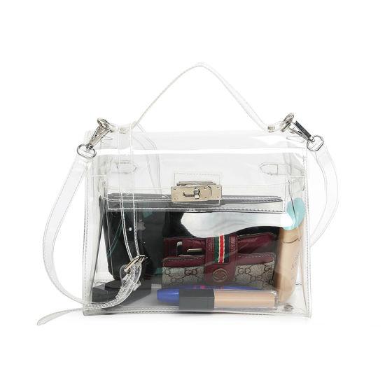 The New Crystal Classic Platinum Bag See-Through Lock Single-Shoulder Messenger Bag