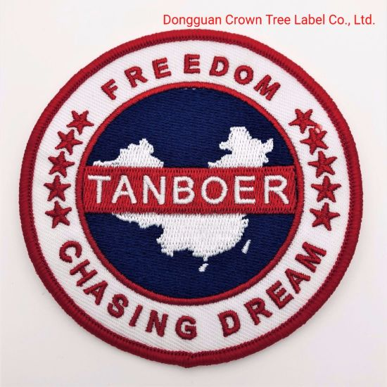 Tanboer Embroidery Hot Melt Adhesive Woven Patch for Garment Accessories