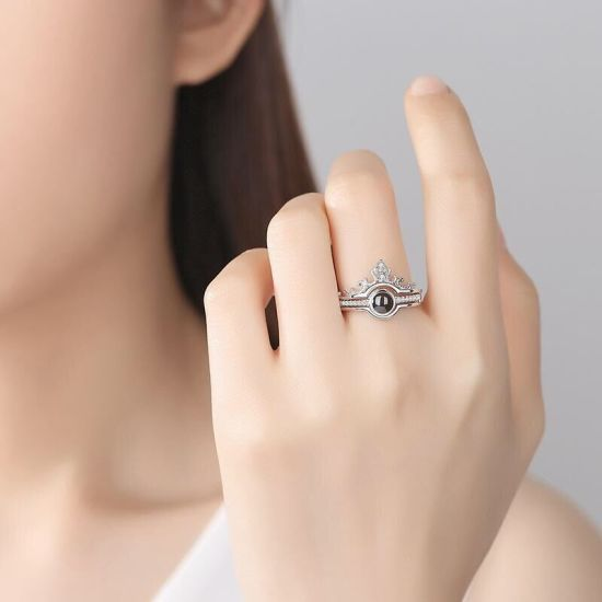 China 2020 New Design Luxury Rose Gold Romantic Fashion Rings Jewelry 100 Languages Project I Love You Ring China 925 Sterling Silver Rings And Silver 925 Rings Price
