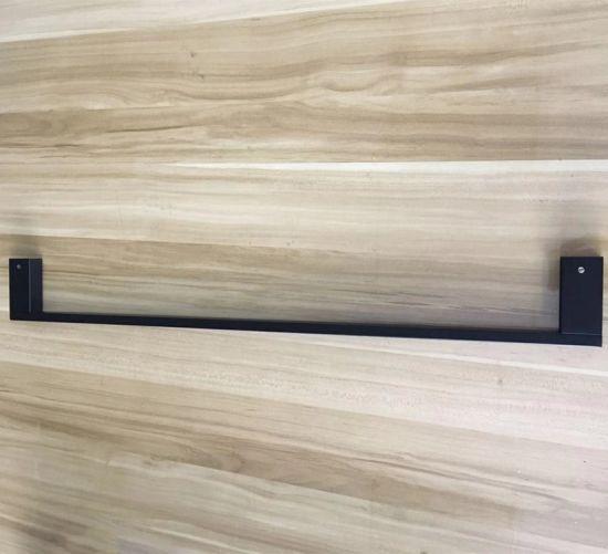 2019 Bathroom Accessories Matte Black Square Stainless Steel Towel Rack Wall Mounted Towel Rail Bar 1