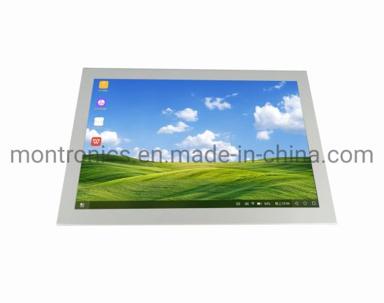 Medical Industrial IP65 White Color Infrared 18.5 Inch Open Frame Touch Screen Monitor for Kiosk Use