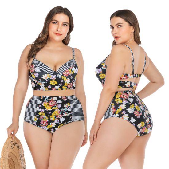 Wholesale Large Size Swimsuit High Waist Bikini Set