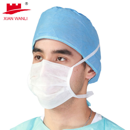 3ply Non Woven Medical Disposable Face Mask with Tie on 50PCS/Box