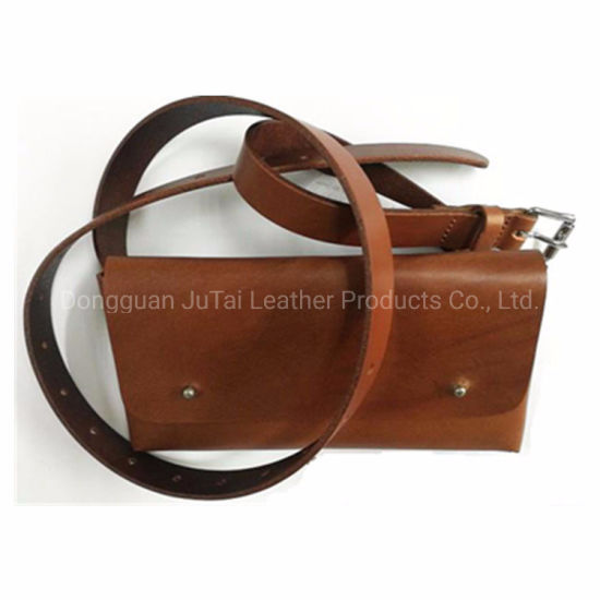Customized Fashion Money Bag Belt Real Leather Waist Belt Pack pictures & photos