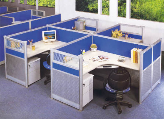 Modern Office Furniture Mudular Workstation with Glass Partition pictures & photos