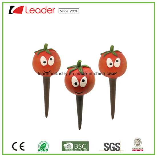 Set of 3 Polyresin Mini Pepper Figurine for Flowerpot Stakes pictures & photos