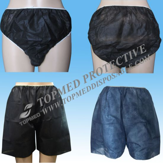 Disposable Shorts for SPA Beauty Salon, Nonwoven Dispsoable Men′s Boxer Shorts pictures & photos