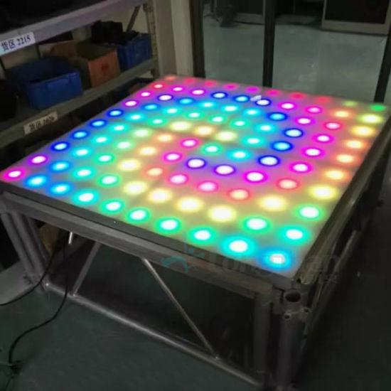 China 1010 Pixel Acrylic Rgb Led Light Led Dance Floor Tiles