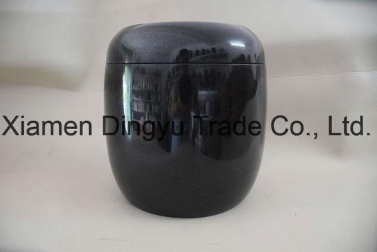 China Black Granite Flower Vase For Cemetery China Vases Stone Vases