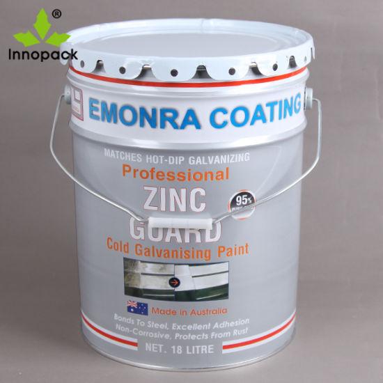 How to paint galvanized metal bucket