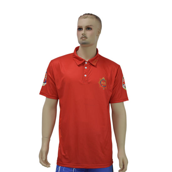 2019 New Style 100%Polyester Polo T-Shirt Custom Sublimation Polo T Shirt Men's Golf Polo Shirt