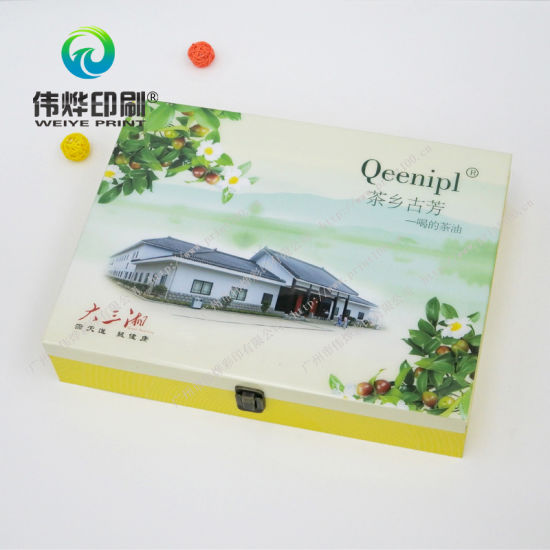 Color Paper Printing Box with Soft Touch Film Lamination for Tea pictures & photos