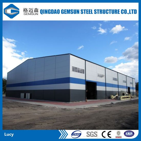 China Design Prefabricated Steel Structural Warehouse/Workshop/Shed