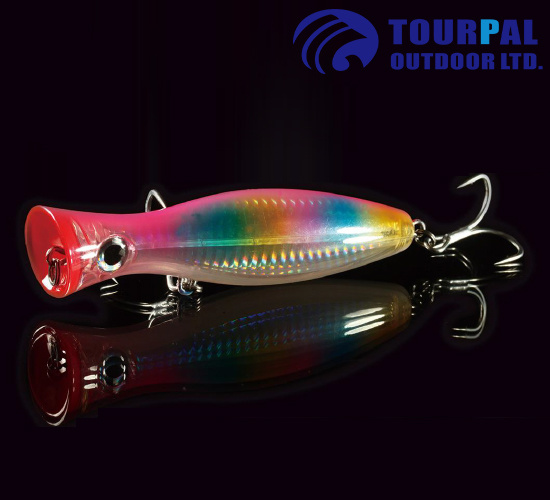 Environmental ABS Material Top Water Floating Popper Plastic Fishing Lure