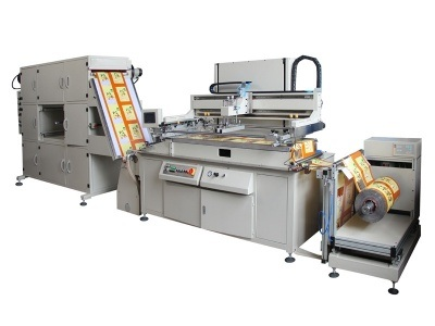 HYB49 Seamless Series Roll to Roll Screen Printing Machine Heat Transfer Paper,Packing Label Packing Silk Screen Printer Machinery