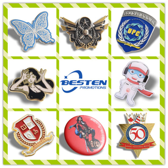 Hot Sell Factory Price Custom Gold Nickle Metal Craft Soft Hard Enamel Lapel Pin Badge