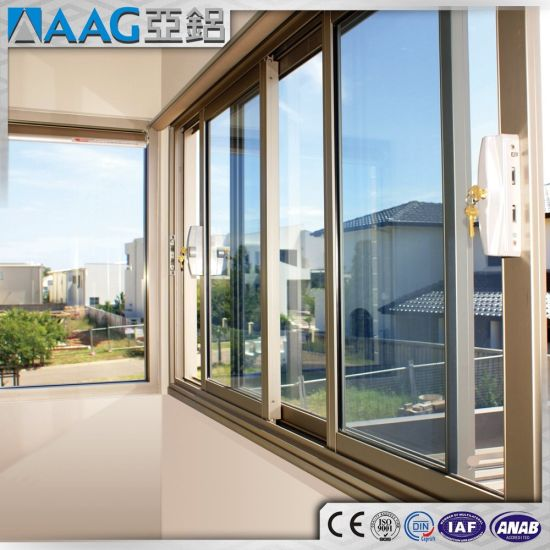 China Supplier High Quality Aluminum/Aluminium Sliding Door Large Sliding  Glass Windows