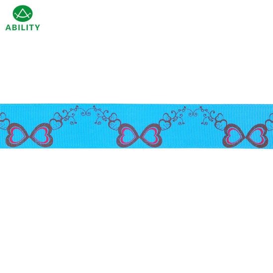 Hot Selling Polyester Christmas Festival Popular Printed Grosgrain Ribbon