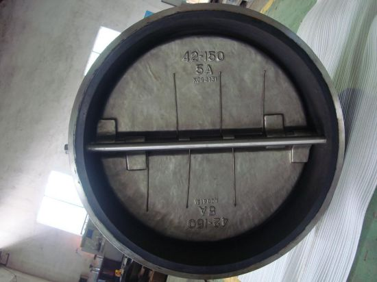 Wafer Dual Plate Check Valve Rubber Lined Type pictures & photos
