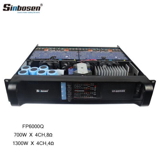 Sinbosen Home Theater 4 Channel Sound Amplifier Fp6000q Audio Power  Amplifier