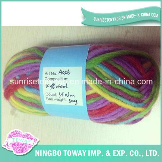 Weaving Blended Acrylic Wool Dyed High Bulk Yarn