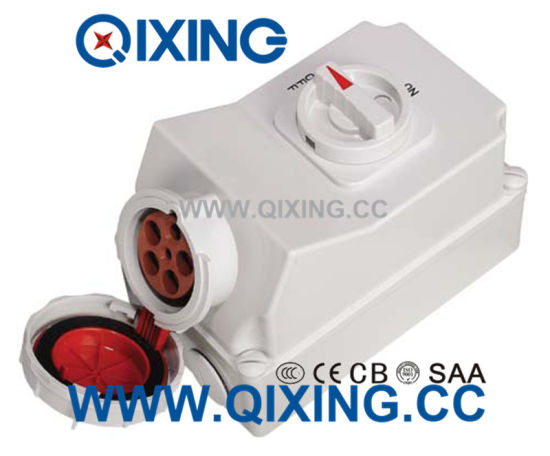 63A 5p Red Wall Switch Mechanical Socket