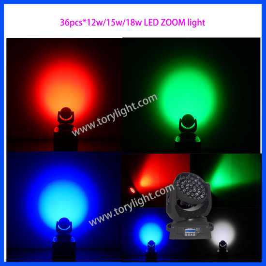 CREE LED Stage Light 36*12W Zoom Moving Head Light pictures & photos