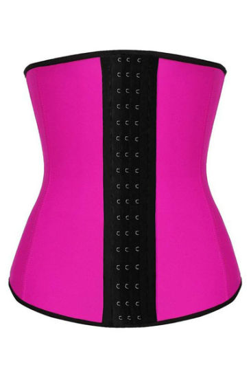 Women′s Latex Waist Trainer Corset Waist Shaper with 9 Steel Boned pictures & photos