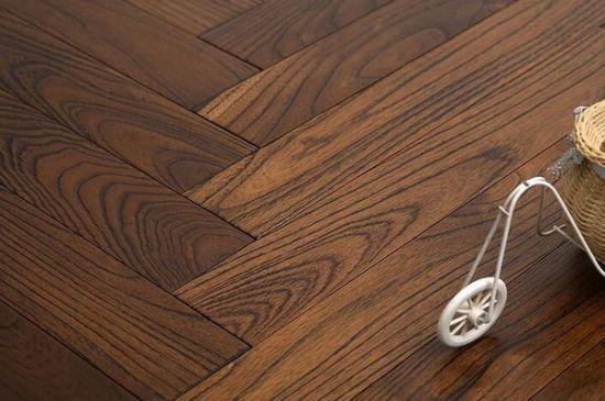 China Hand Scraped Dark Color Mongolian Teak Hardwood Floors China