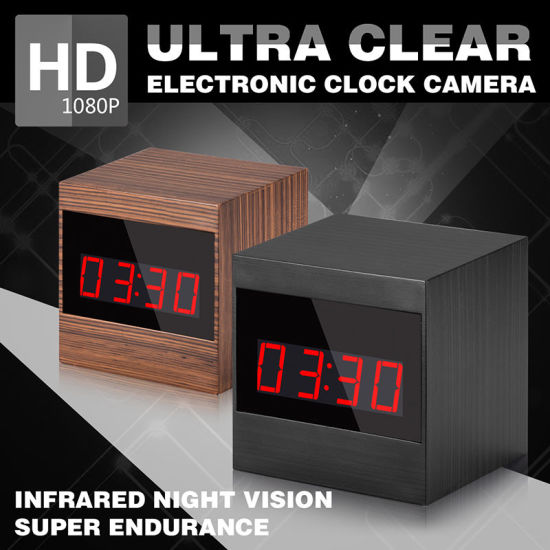 A10 Wireless 1080P HD Night Vision IR Alarm Motion Detection Mini Security Clock Camera Video Recorder