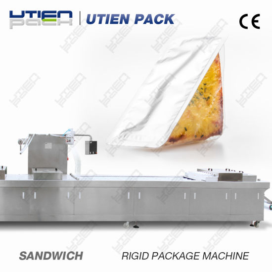 Automatic Deep Thermoforming Vacuum Map Packing Machine for Sandwiches with CE