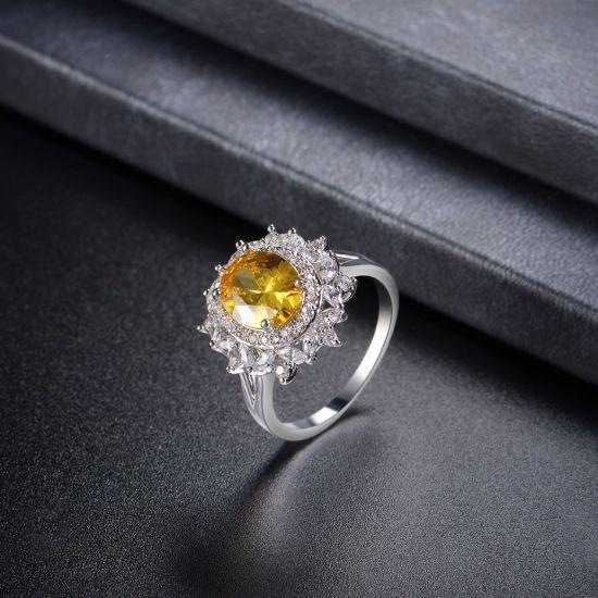 China New Model White Gold Jewelry Wholesale Zirconia Stone Ring