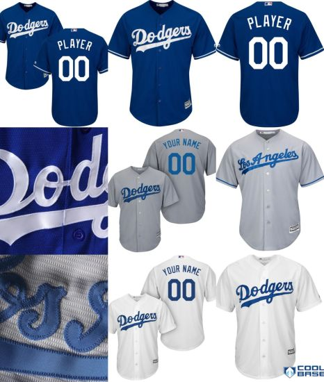 China Customized Men Women Kids Los Angeles Dodgers Cool Base Jersey ... a06dc01fd