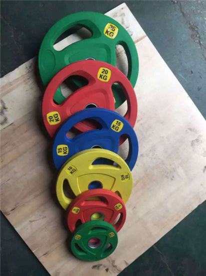 Gym Equipment/Fitness Equipment/3 Hole Frosting Rubber Plate pictures & photos