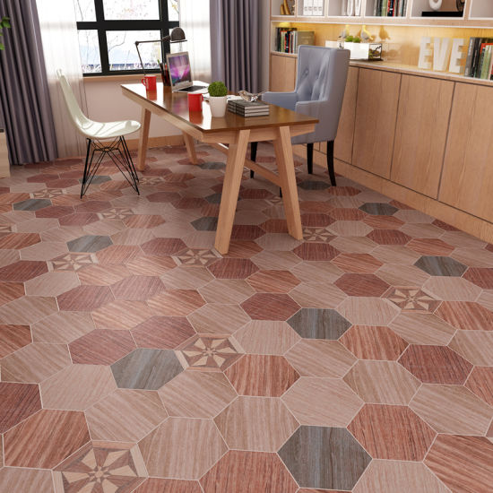 Porcelain Tile Ceramic Hexagon Flooring Tiles Wood Look Floor