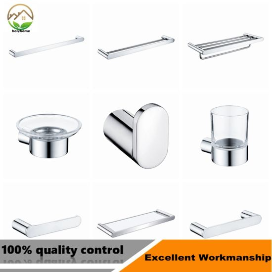 High Quality Stainless Steel 304 Bathroom Accessories Set Wall Mounted  Bathroom Set Hotel Project