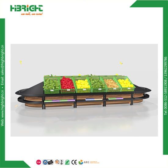 Supermarket Vegetable Display Shelf Vegetable Shelving pictures & photos